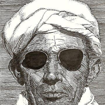 Bedouin with Sunglasses by joenerdyart