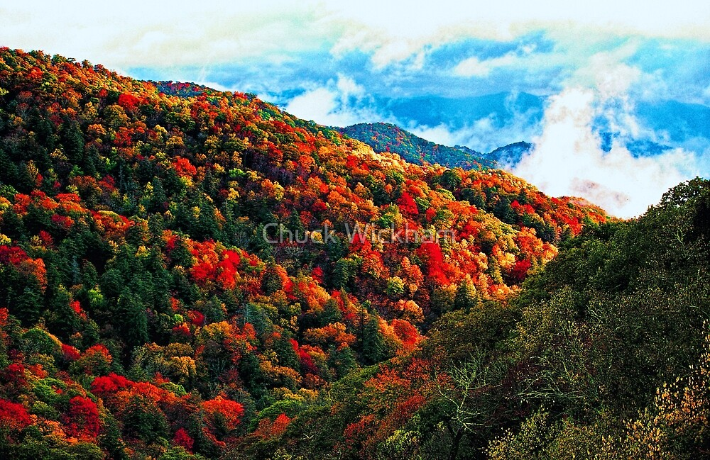 CLEARING AUTUMN STORM IN VALLEY by Chuck Wickham
