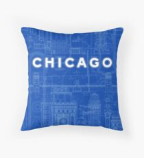 Chicago Icons Throw Pillow
