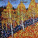 Autumn Birches by Alan Hogan