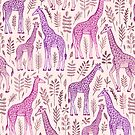 Pink Giraffe Pattern by micklyn