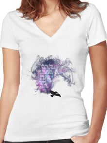 Firefly theme (The Ballad of Serenity) Women's Fitted V-Neck T-Shirt