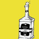 Eric & Gordon Gin Bottle (Original)  by Jake Smithies