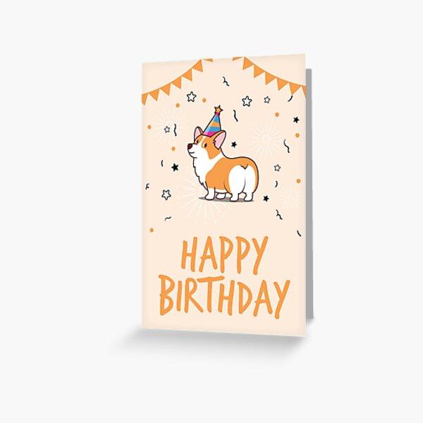 Corgi Birthday Card Greeting Card