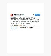 Lil B 'The BasedGod' Tweet Photographic Print