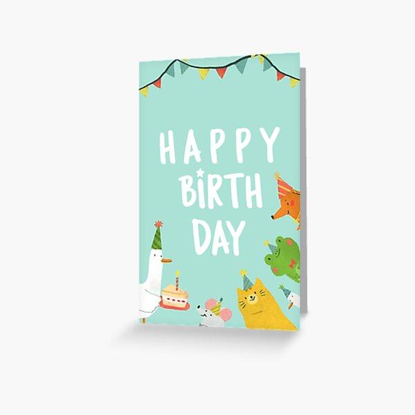 Animals Birthday Card Greeting Card