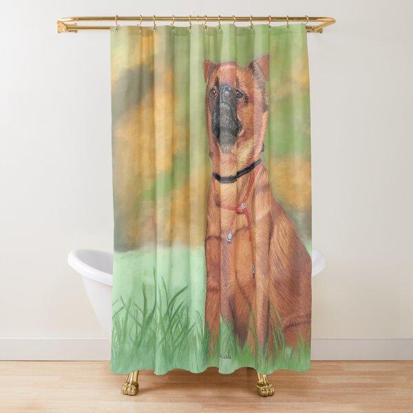 Petit brabançon portrait Shower Curtain