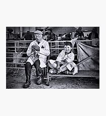 Ah need summat ter eyt - Generations at The Great Yorkshire Show Photographic Print