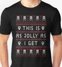 Emo Gothic hässliche Weihnachtsstrickjacke Slim Fit T-Shirt