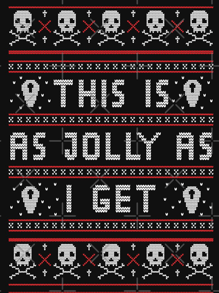 Emo Gothic Ugly Christmas Sweater by fallenapple