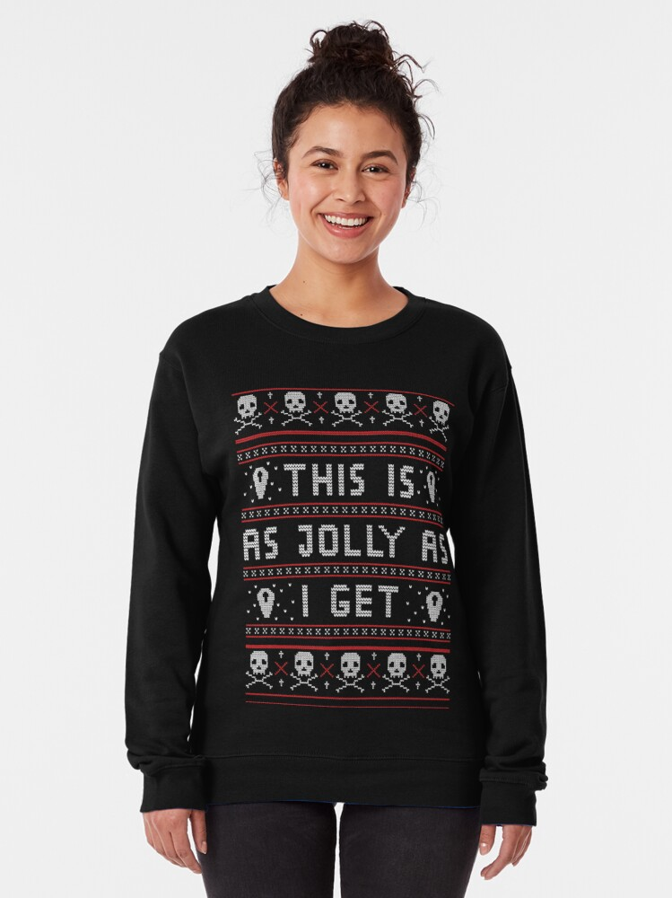 Alternate view of Emo Gothic Ugly Christmas Sweater Pullover Sweatshirt