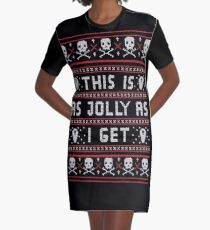 d937c33981 Emo Gothic Ugly Christmas Sweater Graphic T-Shirt Dress