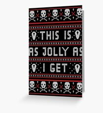 Emo Gothic Ugly Christmas Sweater Greeting Card