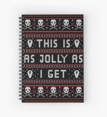 Emo Gothic Ugly Christmas Sweater Spiral Notebook