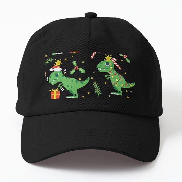 Cute Christmas DINOSAURS Dad Hat