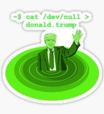 cat /dev/null Donald Trump Sticker