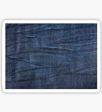Navy blue jeans cloth textured pattern Sticker