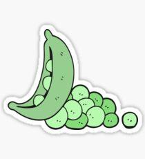 cartoon peas in pod Sticker