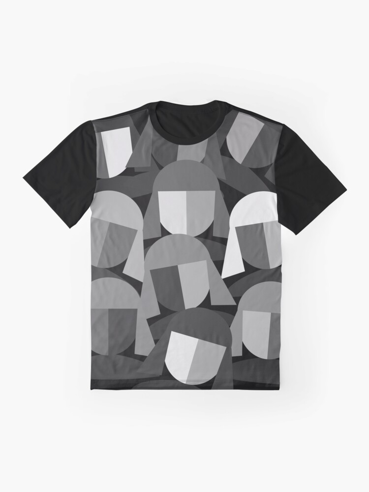 Alternate view of Faces Abstract Graphic T-Shirt