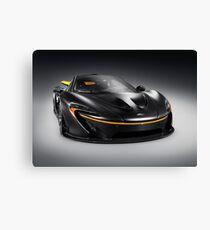 Black McLaren P1 plug-in hybrid supercar sports car art photo print Canvas Print