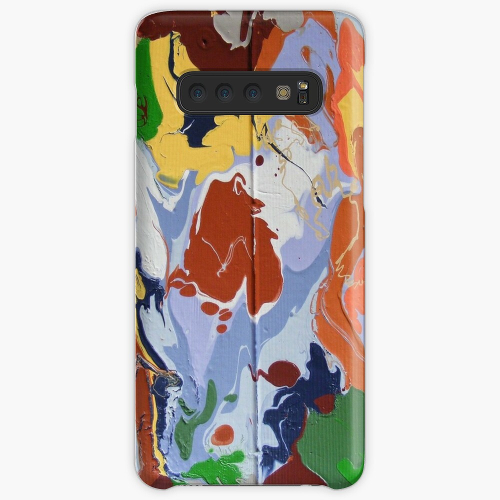 COLORFUL ABSTRACT SWIRLING WAVES  Case & Skin for Samsung Galaxy