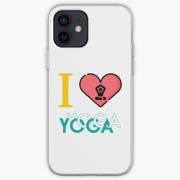 i love yoga iPhone Soft Case
