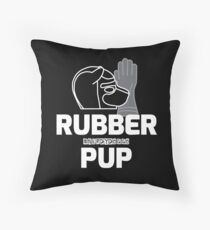 Nerdy Doggo Rubber Pup Throw Pillow