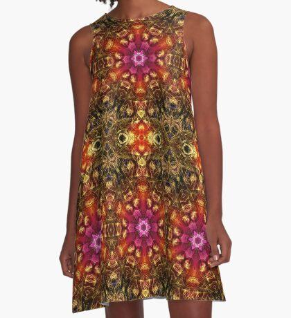 Fractal Geo A-Line Dress