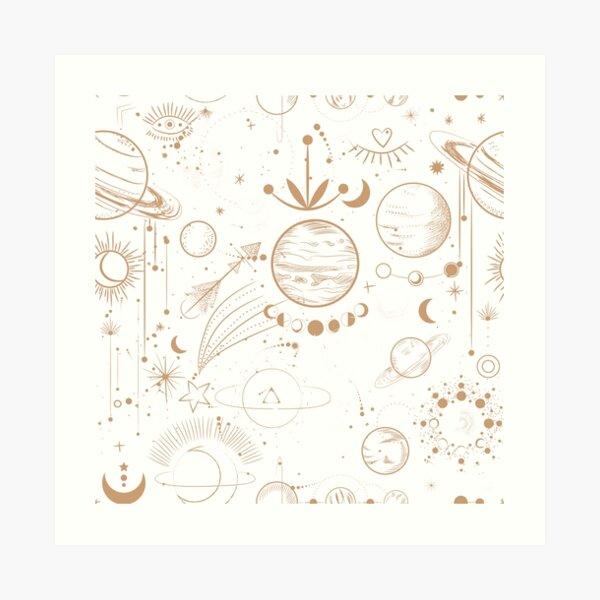 Planets and Stars Art Print