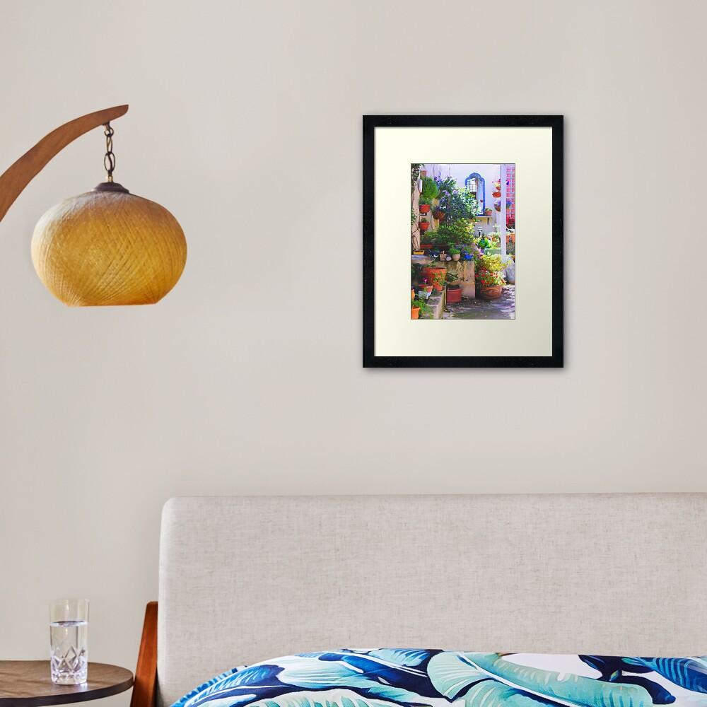 friends' garden Framed Art Print