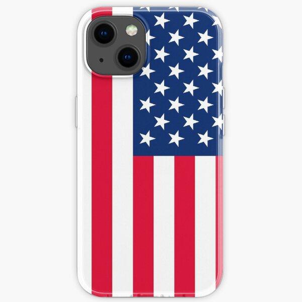 american flag 4k iPhone Soft Case