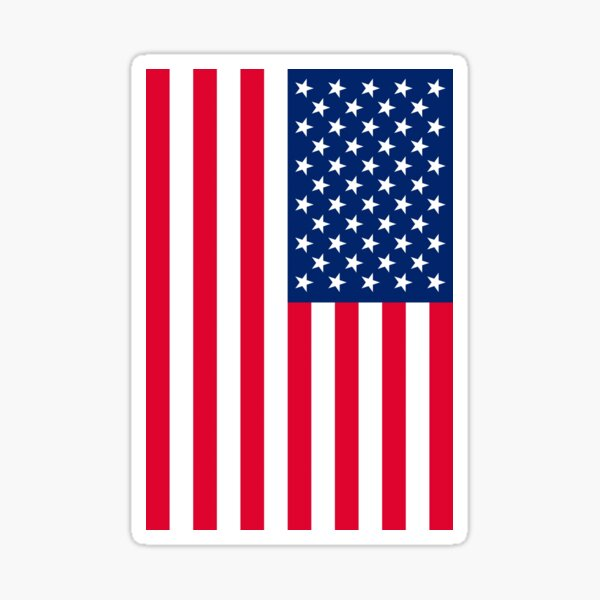 american flag 4k Sticker