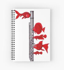 Fish and Flute Spiral Notebook
