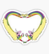 Heart Lady Rainicorn Sticker