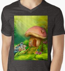 Fantasy mushroom cottage house on a colorful meadow T-Shirt