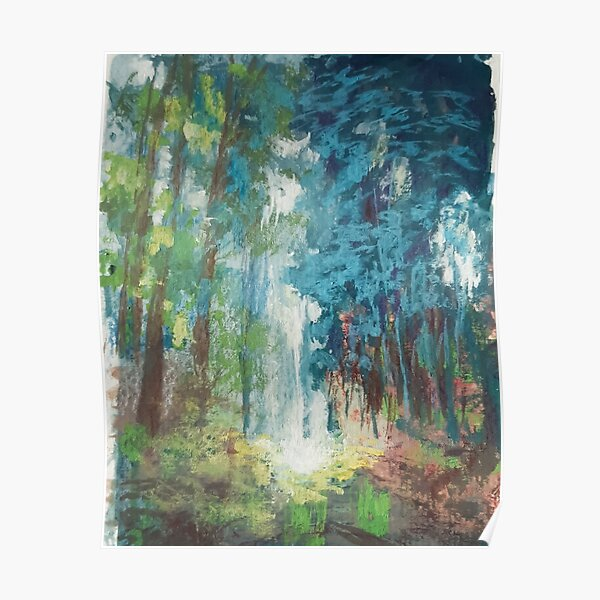 woodland gouache painting Poster