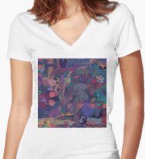 GLASS ANIMALS // ZABA Women's Fitted V-Neck T-Shirt