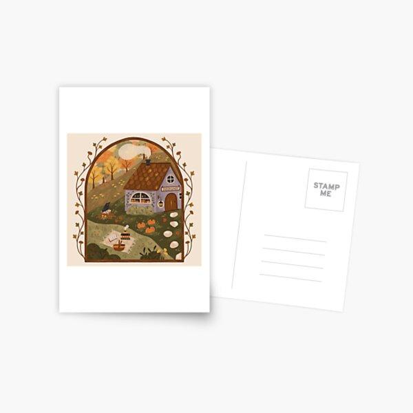Autumn Bookshop Postcard
