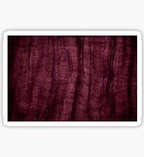 Burgundy grunge cloth texture Sticker