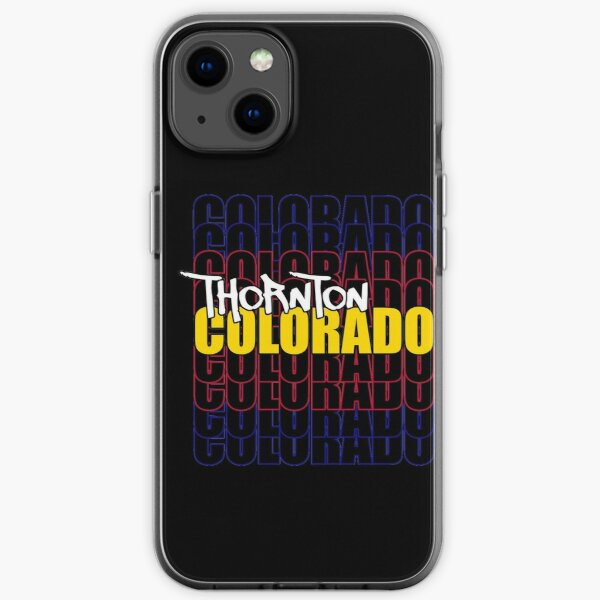 Thornton Colorado State Flag Typography iPhone Soft Case