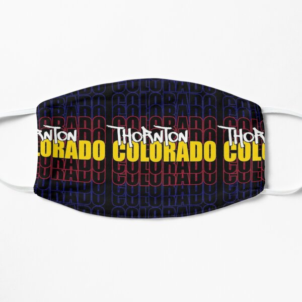 Thornton Colorado State Flag Typography Flat Mask