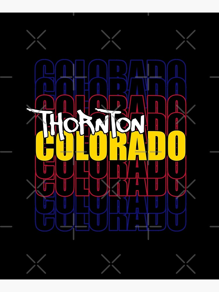 Thornton Colorado State Flag Typography by that5280lady