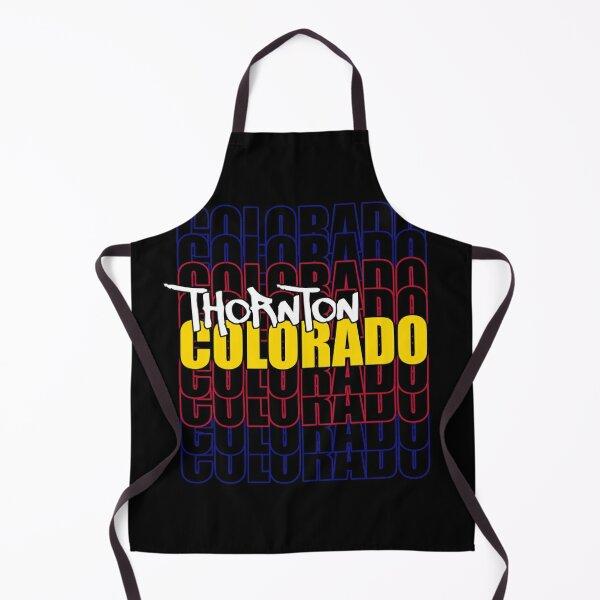 Thornton Colorado State Flag Typography Apron