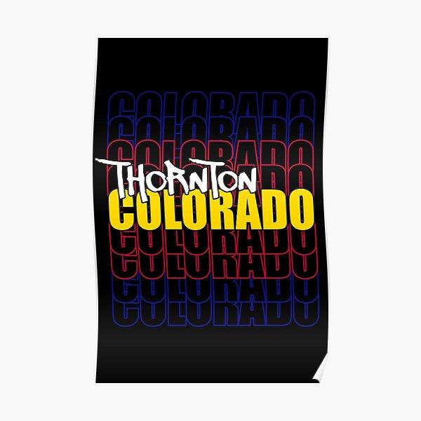Thornton Colorado State Flag Typography Poster