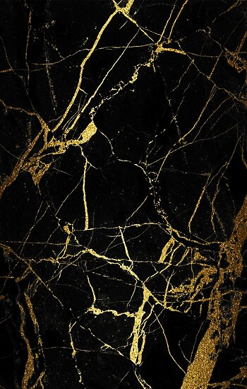 Black And Gold Marble : Black gold marble texture posters by hinata lexy lin