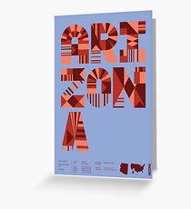 Typographic Arizona State Poster Greeting Card