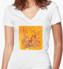 The Summer of the Red Sky Women's Fitted V-Neck T-Shirt