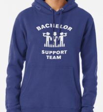 Bachelor Support Team (Stag Party / White) Pullover Hoodie