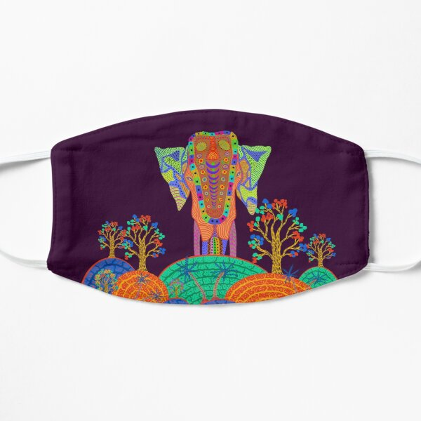 Tropical Indian Elephant Forest to the Sea  Flat Mask