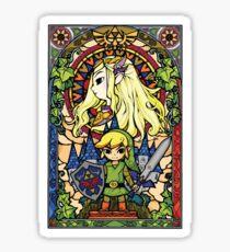 Pegatina Zelda y enlace